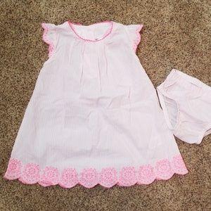 Baby Oshkosh pink seersucker dress